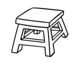 Dibujo de Banquinho quadrado