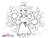 Desenho de Barbie Princesa cor de rosa para colorear