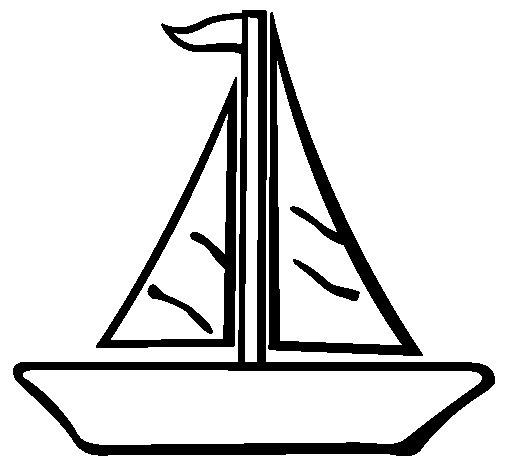 Desenho de Barco veleiro para Colorir
