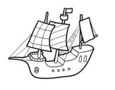Desenho de Barquinho para colorear
