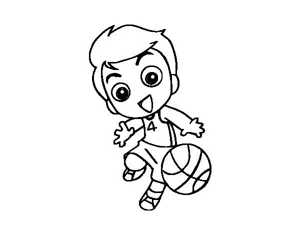 Desenho de Basquetebol para Colorir