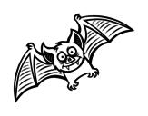 Desenho de Bat amigável para colorear