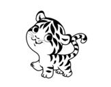 Desenho de Bebê tigre para colorear
