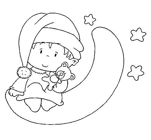 Desenho de Bebê para Colorir