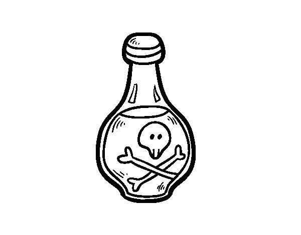 Desenho de Bebida pirata para Colorir