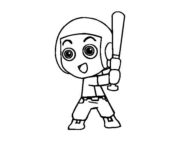 Desenho de Beisebol para Colorir