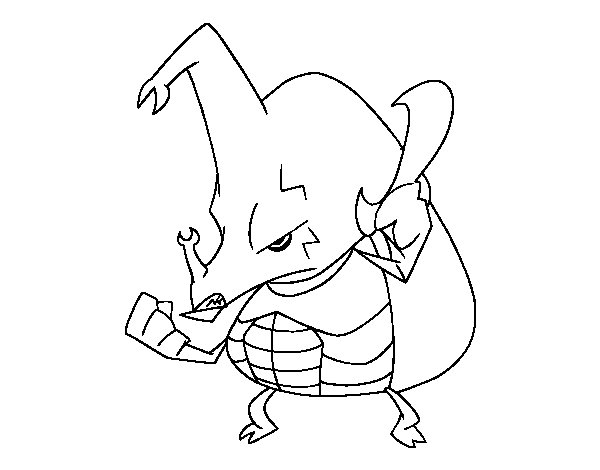 Desenho de Besouro rinoceronte zangado para Colorir