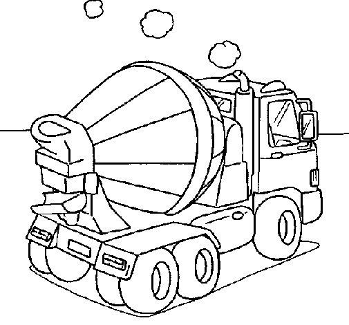 Desenho de Betoneira para Colorir