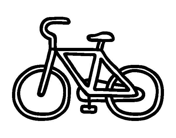 Desenho de Bicicleta básico para Colorir