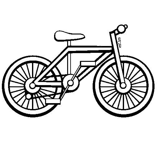 Desenho de Bicicleta para Colorir