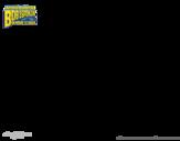 Desenho de Bob Esponja - Sopro ardido correndo para colorear