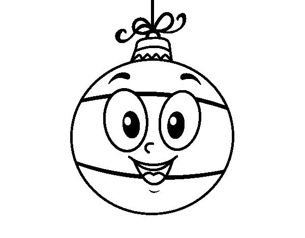 Desenho de bola da rvore de natal para colorir - Como pintar bolas de navidad ...