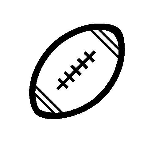 Desenho de Bola de futebol americano II para Colorir