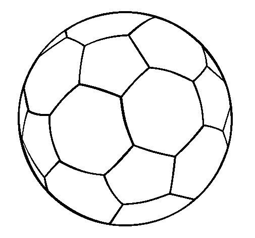 Desenho de Bola de futebol II para Colorir