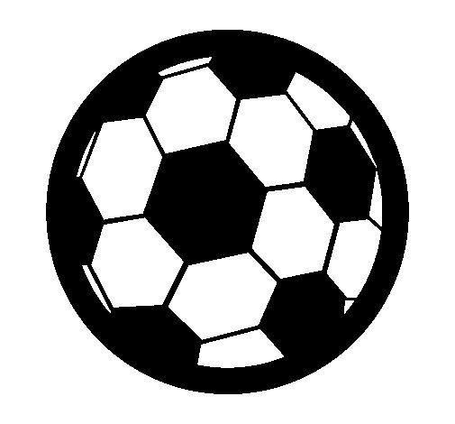 Desenho de Bola de futebol III para Colorir