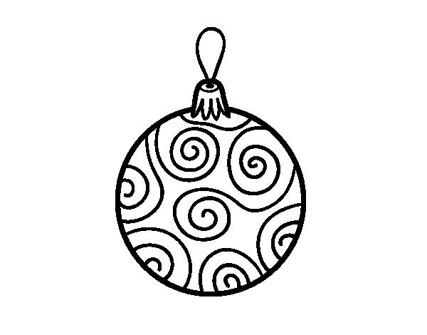 Desenho De Bola Decorada Da árvore De Natal Para Colorir