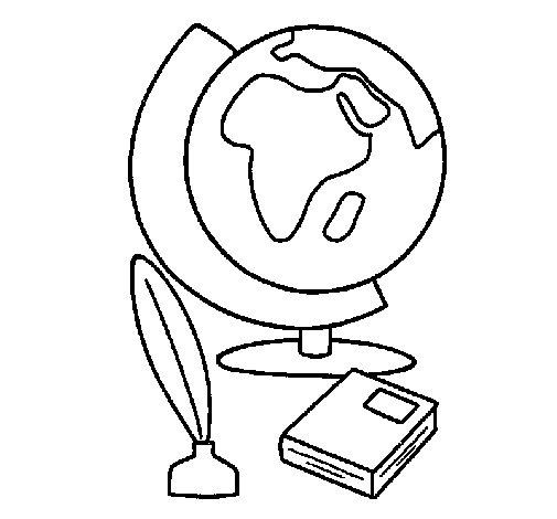 Desenho de Bola do mundo para Colorir