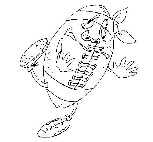 Desenho de Bola enjoada para Colorir