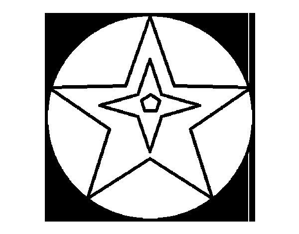 Desenho de Bola estrela para Colorir