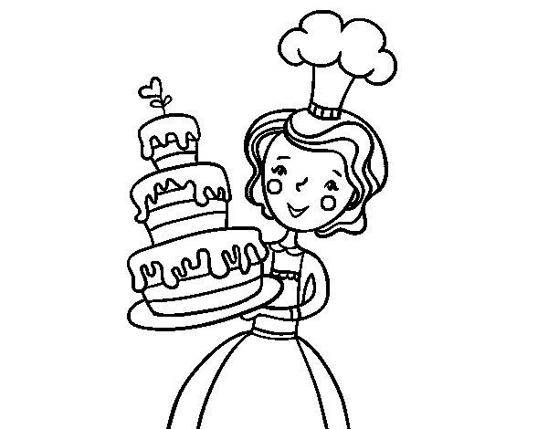Desenho de Bolo de aniversário caseiro para Colorir