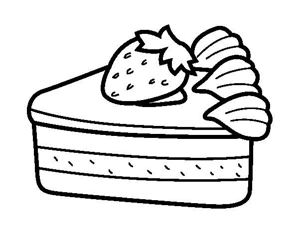 Desenho de Bolo de morango para Colorir