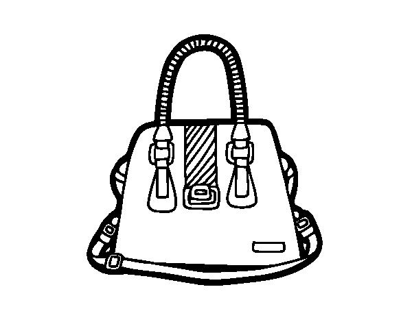 Desenho de bolsa com al as para colorir - Bolsas para pintar ...