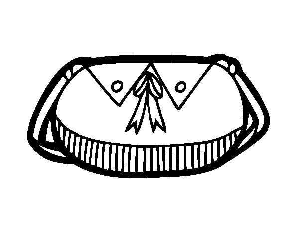 Desenho de Bolsa com arco para Colorir