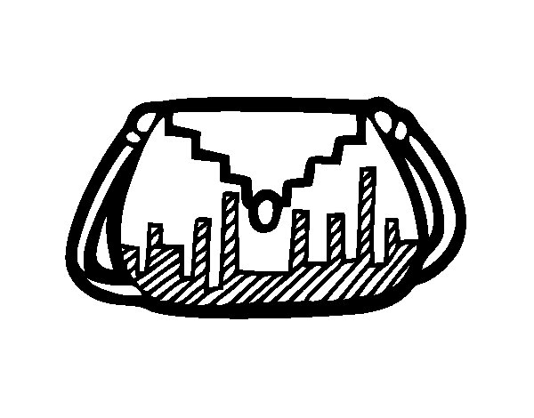 Desenho de Bolsa designer para Colorir