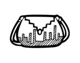 Desenho de Bolsa designer para colorear