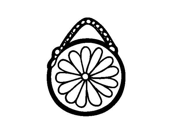 Desenho de Bolsa redondo para Colorir