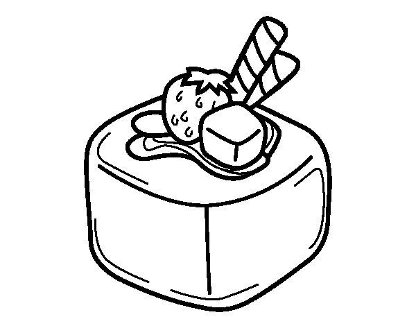 Desenho de Bombom de fruta para Colorir