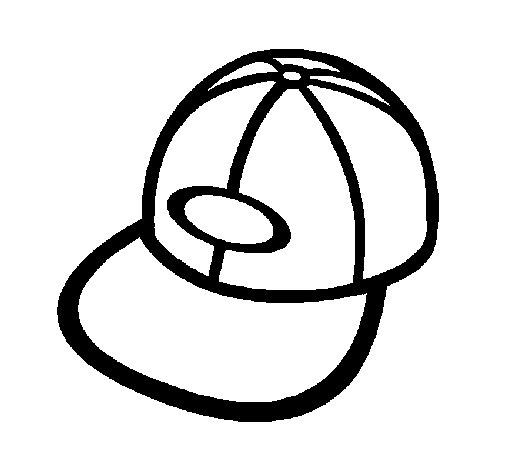 Desenho de Boné com viseira para Colorir