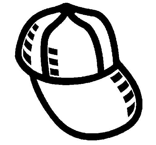 Desenho de Boné de basebol para Colorir