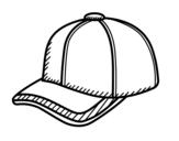 Desenho de Boné desportiva para colorear