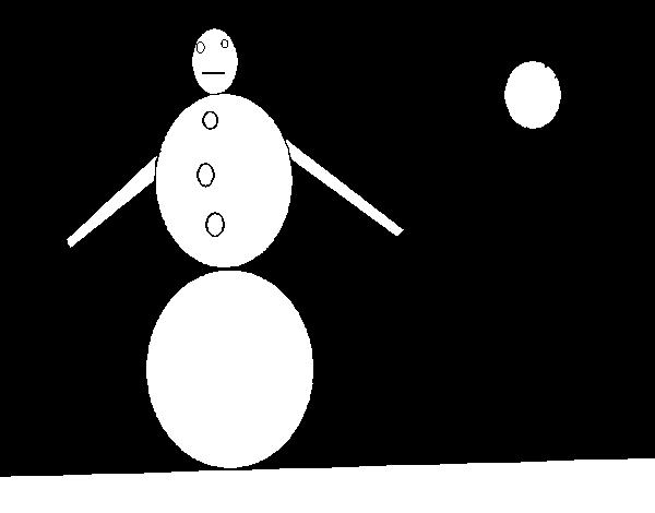 Desenho de Boneco de neve 4 para Colorir