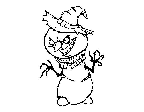 Desenho de Boneco de neve malvado para Colorir