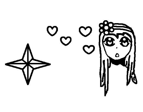 Desenho de Bonitinha princesa para Colorir
