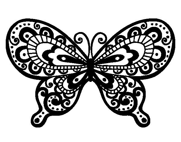 Desenho de Borboleta bonita para Colorir