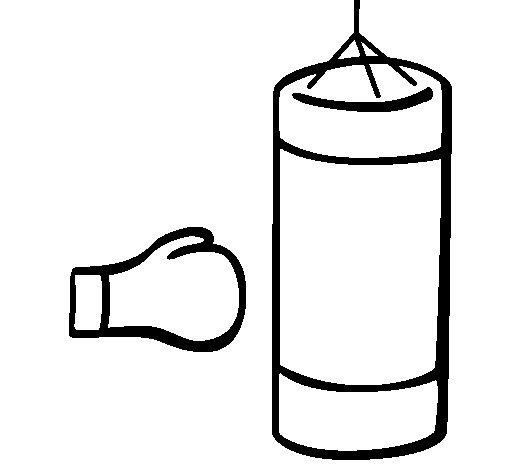 Desenho de Boxe para Colorir