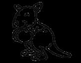 Desenho de Boxe canguru para colorear