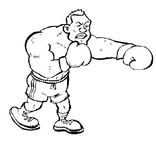 Desenho de Boxeador para Colorir