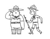 Desenho de Boy Scouts para colorear