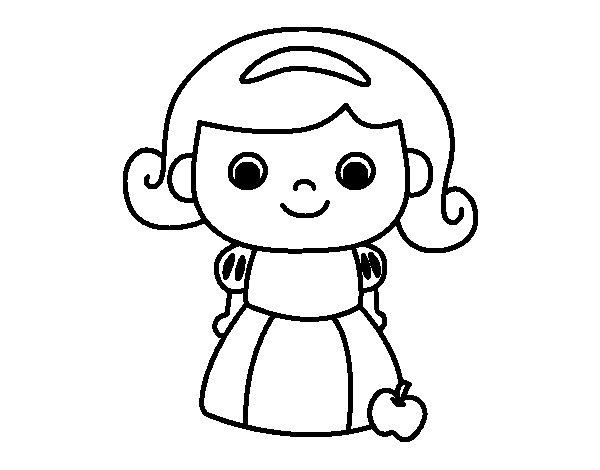 Desenho de Branca de Neve para Colorir
