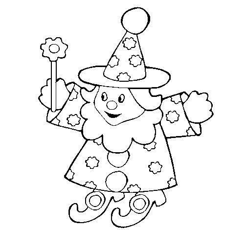 Desenho de Bruxo pequeno para Colorir