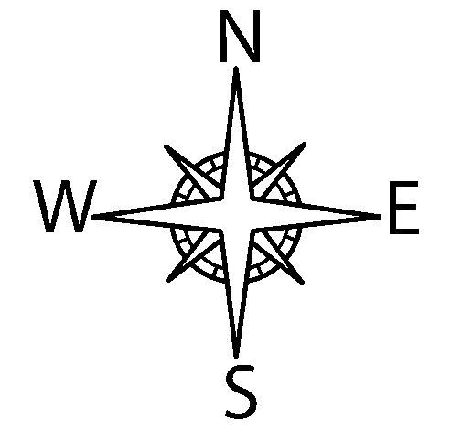 Desenho de Bússola para Colorir