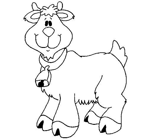 Desenho de Cabra 3 para Colorir