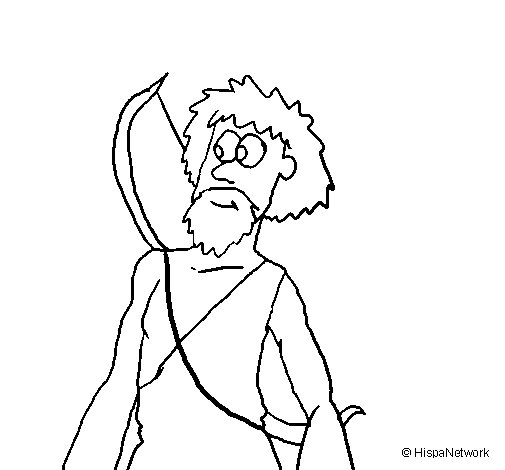 Desenho de Caçador para Colorir
