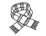 Desenho de Cachecol de listras para colorear