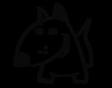 Desenho de Cachorro V para colorear