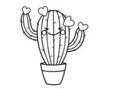 Desenho de Cacto coração  para colorear